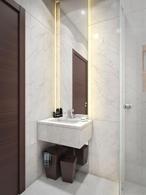 Inspiratie voor een kleine badkamer - Badkamers voorbeelden