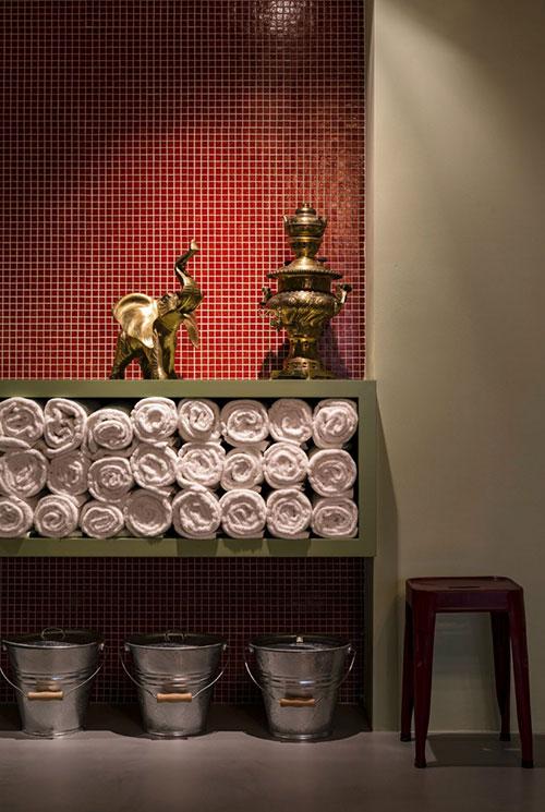 Badkamers voorbeelden » Klassieke badkamer van 25 Hours hotel Wenen