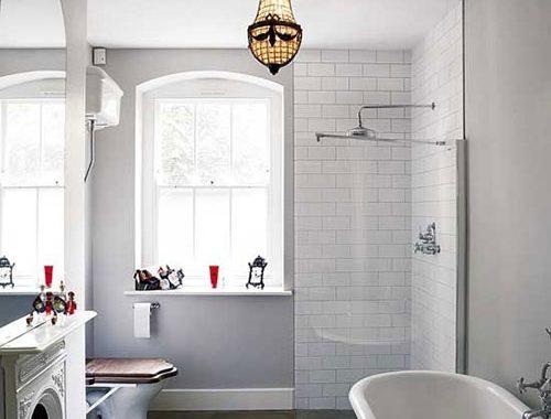 Klassieke badkamer met openhaard