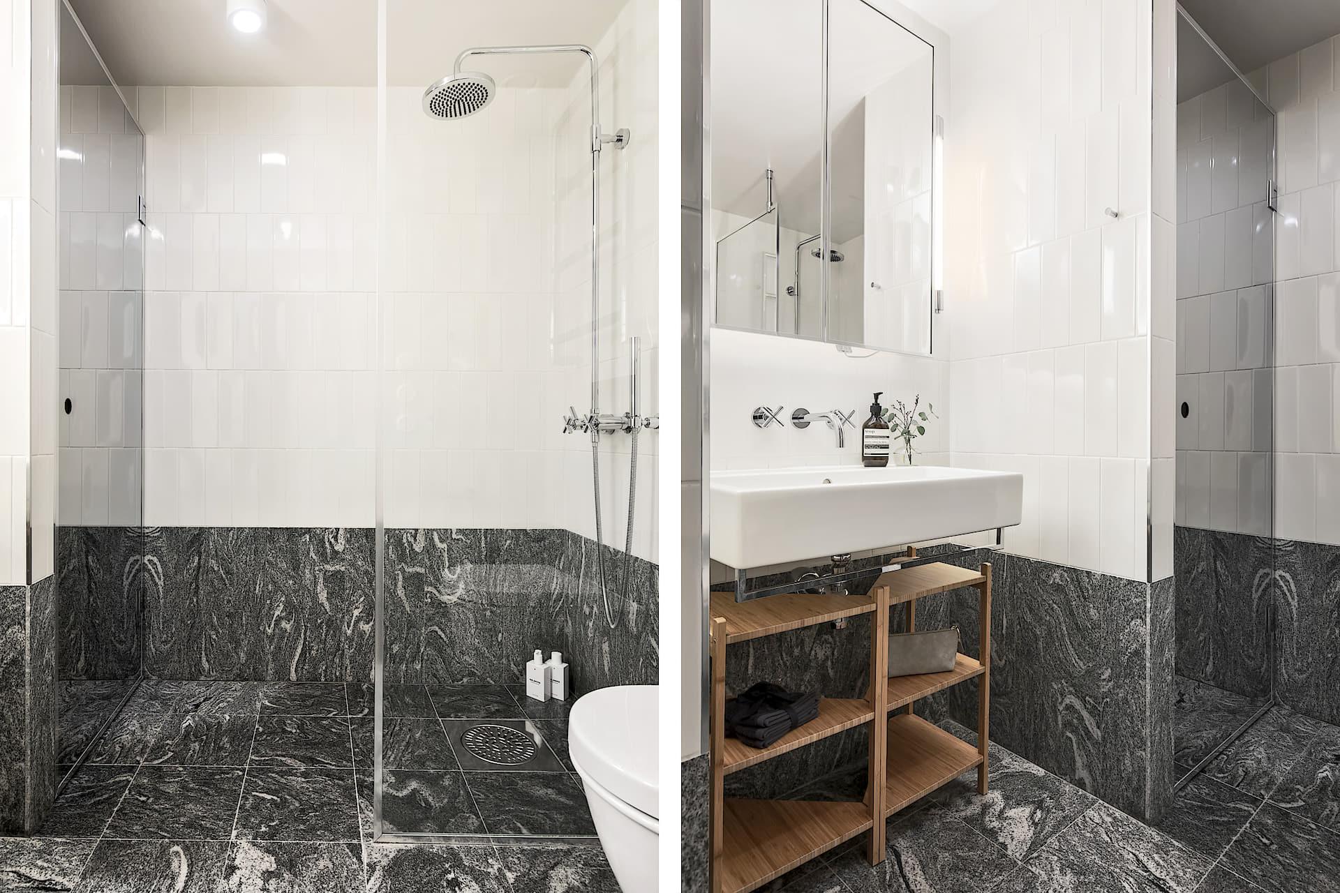 Klassieke luxe badkamer van een stoere loft woning - Badkamers ...
