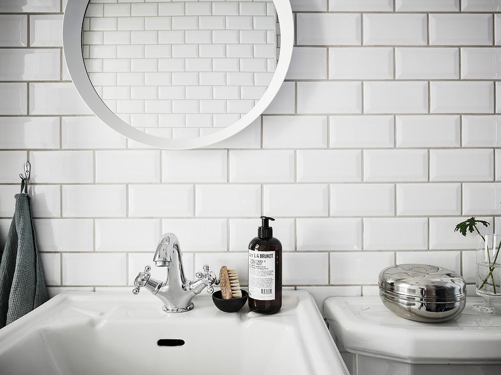Klassieke zwart wit badkamer