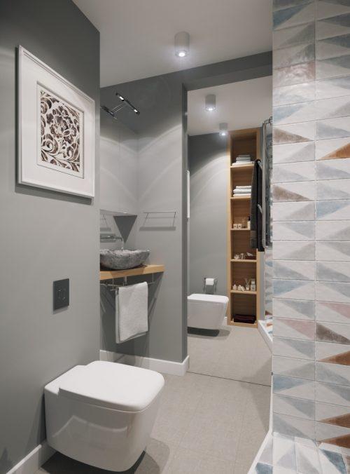 Klein modern badkamer ontwerp door geometrium badkamers voorbeelden - Badkamer klein ontwerp ruimte ...