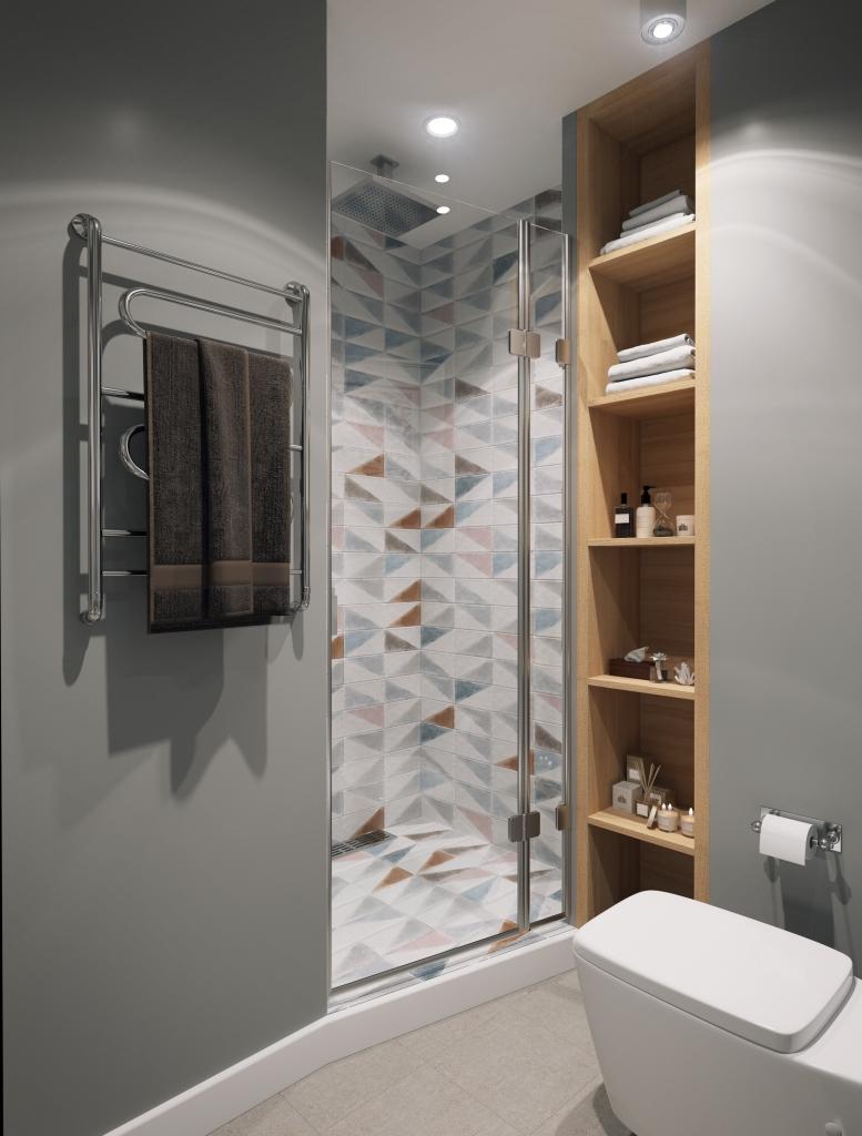 Zeer Klein modern badkamer ontwerp door Geometrium - Badkamers voorbeelden #YM81