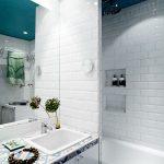 Badkamers voorbeelden kleine scandinavische badkamer - Scandinavische blauwe ...