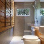 Kleine badkamer met inloopdouche en toilet