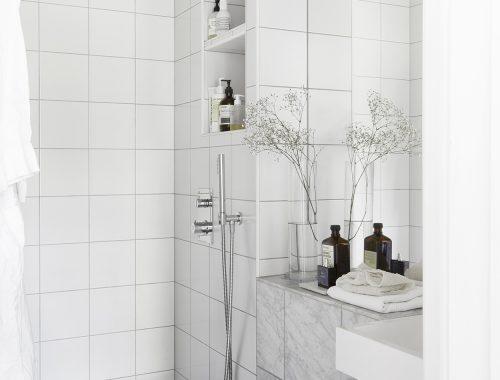 Kleine badkamer met luxe afwerking