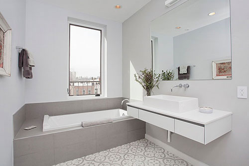 Badkamers voorbeelden u00bb Kleine badkamer met Marokkaanse vloer