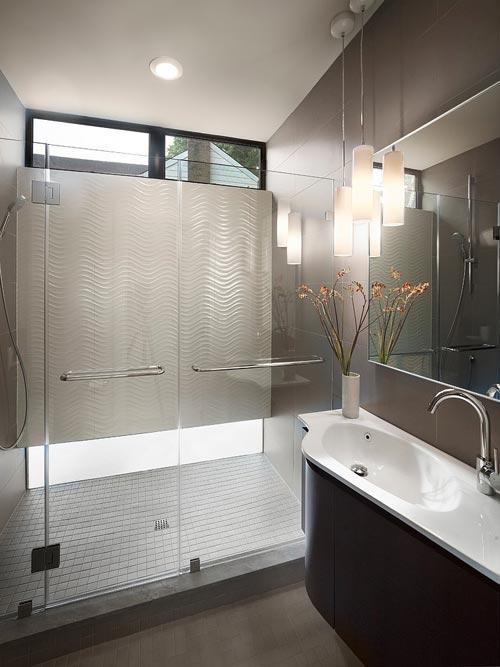 Kleine badkamer met inloopdouche badkamers voorbeelden - Kleur idee ruimte zen bad ...