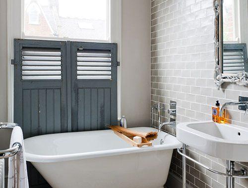 Kleine badkamer van Victoriaanse woning