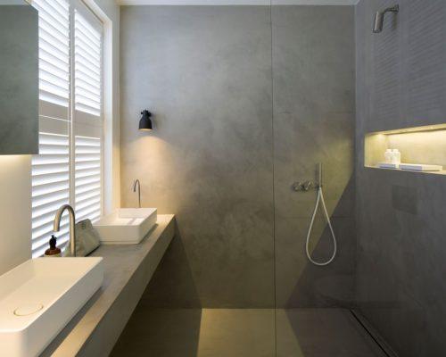Kleine betonstuc badkamer door Ardesia Design - Badkamers voorbeelden