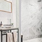 Badkamers voorbeelden moderne badkamer met gietvloer en vloerverwarming - Badkamer klein gebied m ...