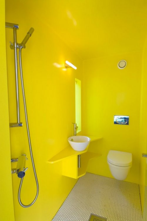 gele badkamer tegels – copyjack, Badkamer