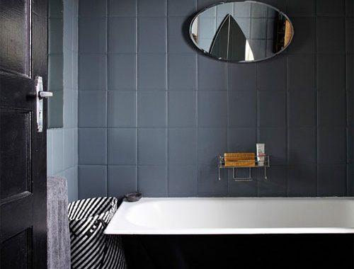 Kleine grijze badkamer inspiratie