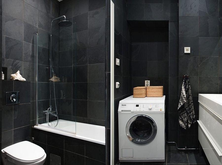 Kleine grijze badkamer badkamers voorbeelden