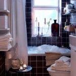 Kleine IKEA badkamer met bad