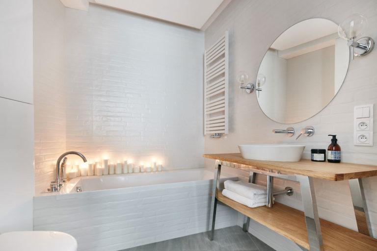 Kleine intieme badkamer