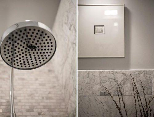 Kleine marmeren badkamer door interieur architect Patrick Perez