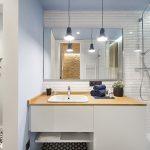 Kleine moderne badkamer met een vissersthema