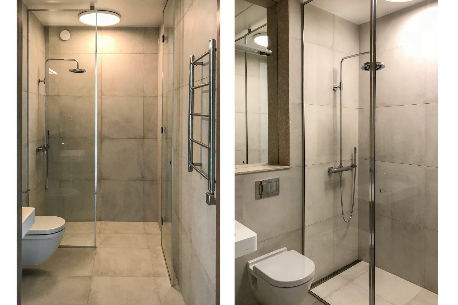 Kleine Praktische Badkamer : Kleine moderne badkamer met granieten keramische tegels badkamers