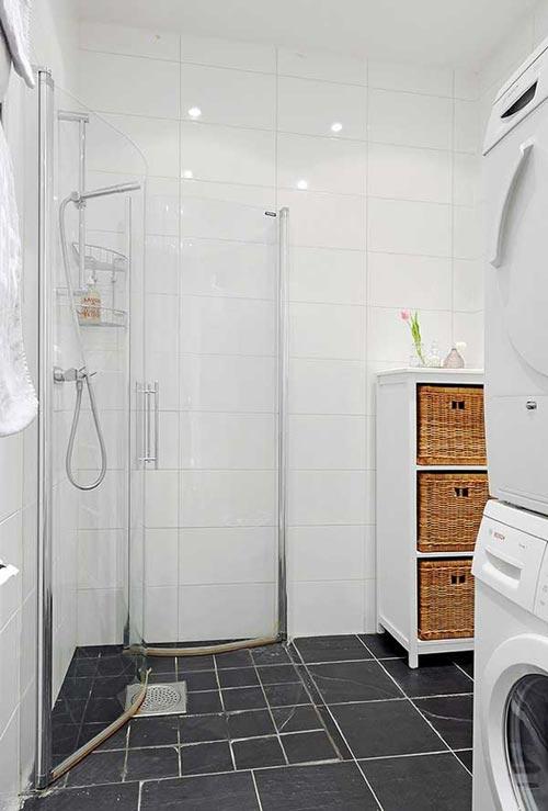 badkamers voorbeelden » kleine scandinavische badkamer, Meubels Ideeën