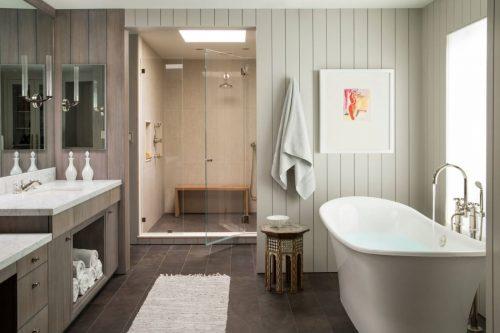 Badkamer Landelijk Modern : Moderne landelijke badkamer met natuurlijke materialen