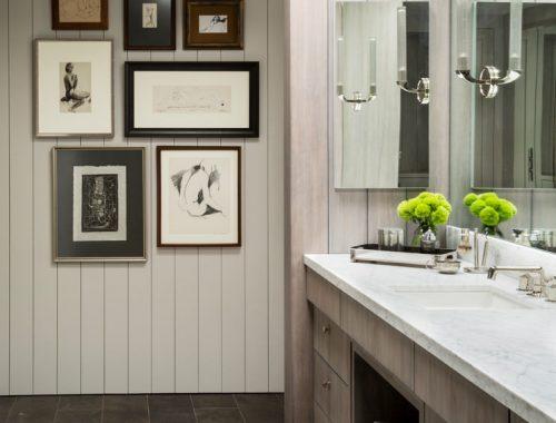 Landelijke badkamer in een modern tintje