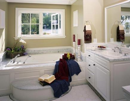 Voorbeelden van landelijke badkamers