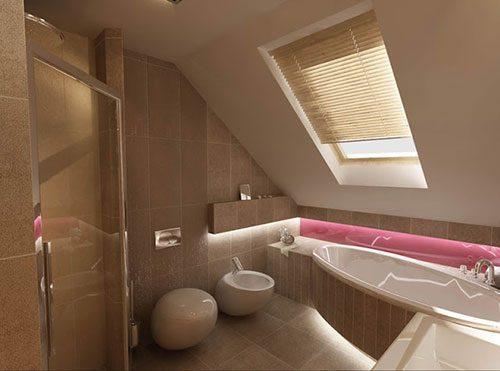 badkamers voorbeelden, dakraam, dakraam in badkamer, dakraam in schuine dak, schuine dak in badkamer, badkamer inrichten, inloopdouche, bidet, zwevend toilet