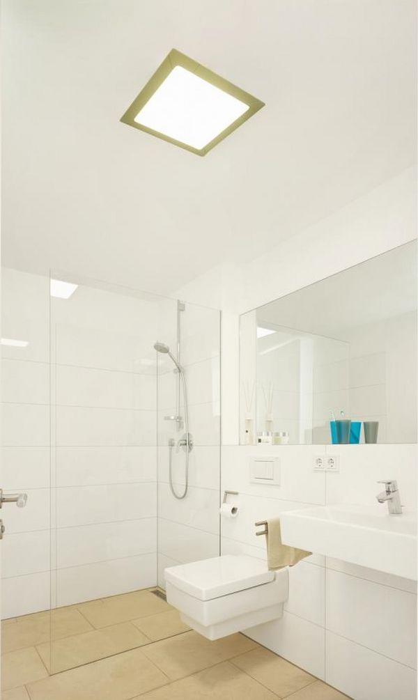 Led paneel als badkamerverlichting badkamers voorbeelden for Badkamerverlichting led