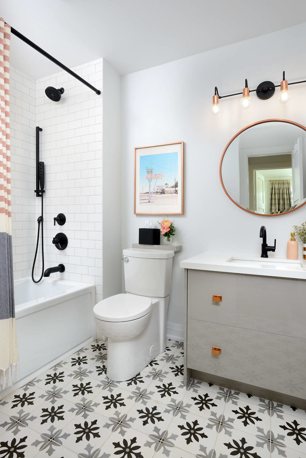 Leuke badkamer door  interieurontwerper en architect Michelle Berwick