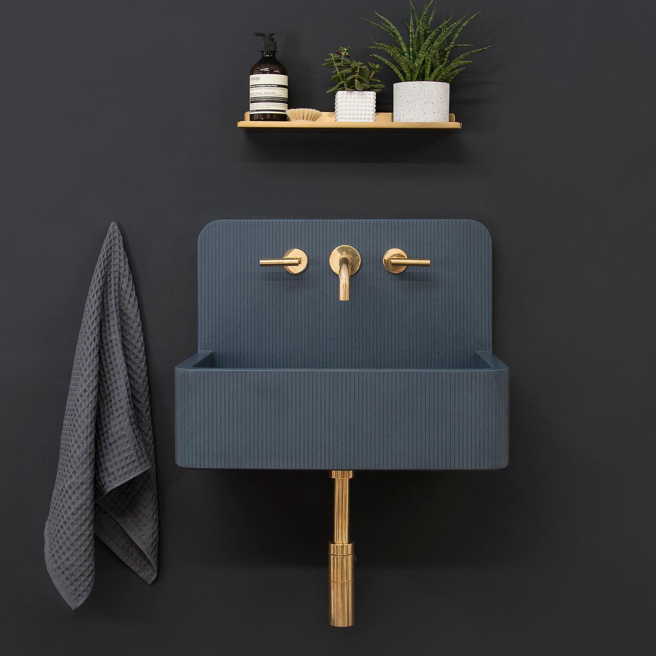 Mooie wastafels met geometrische patronen