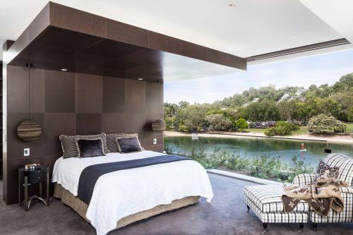 badkamers voorbeelden » luxe badkamer achter in slaapkamer, Deco ideeën