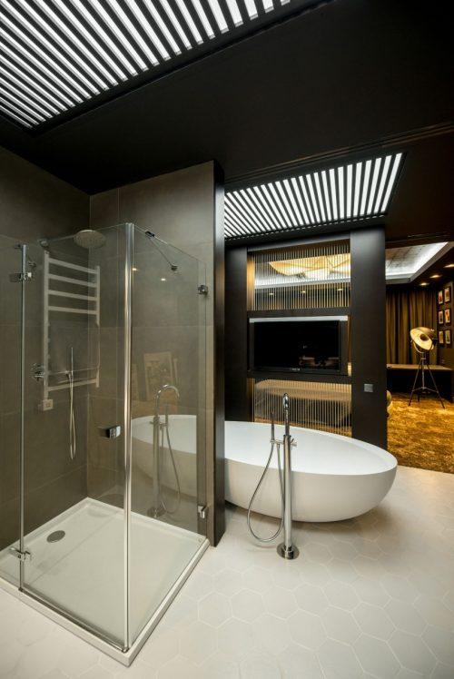 Luxe badkamer van bekende voetballer