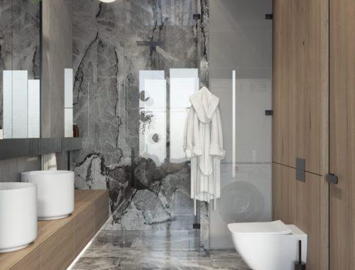 Luxe badkamer en suite in Russische loft