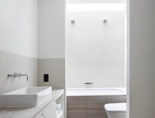 Luxe badkamer in de kelder