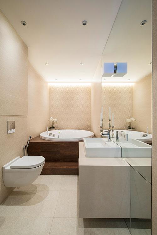 Luxe badkamer in klein appartement