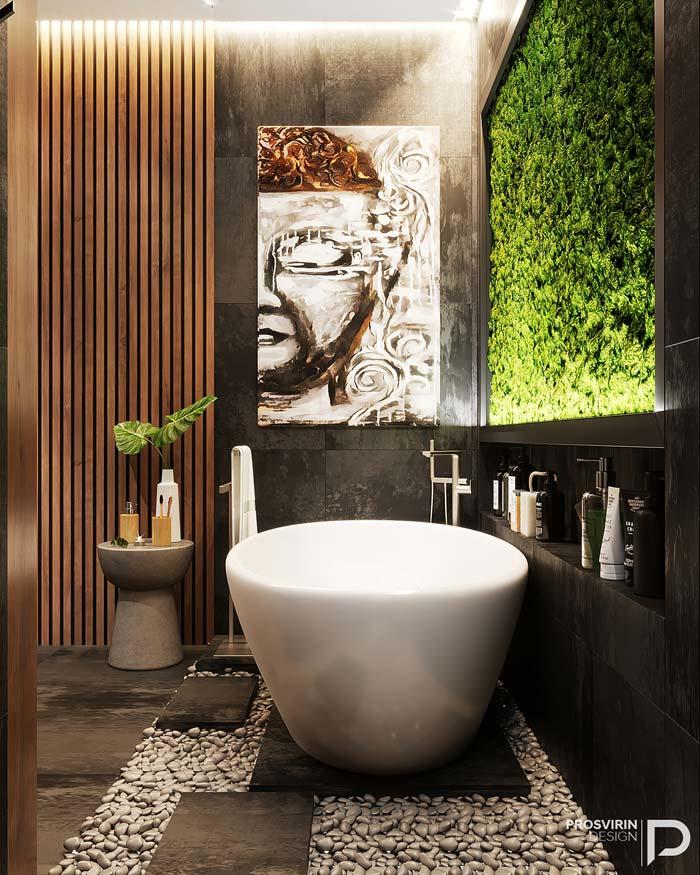 Luxe badkamer met Bali thema