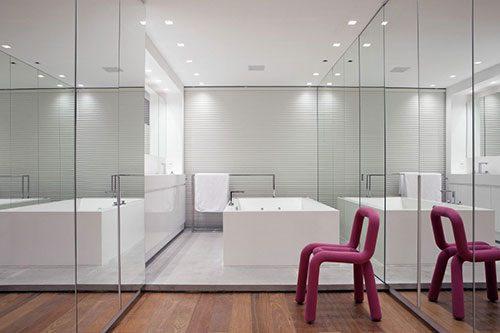 Luxe badkamer met inloopkast