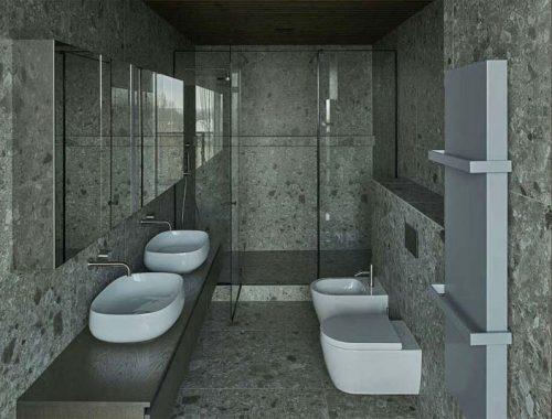 luxe badkamer met natuurstenen tegels en houten accenten-2