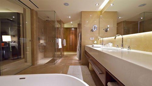 Luxe badkamer van miljoenen penthouse