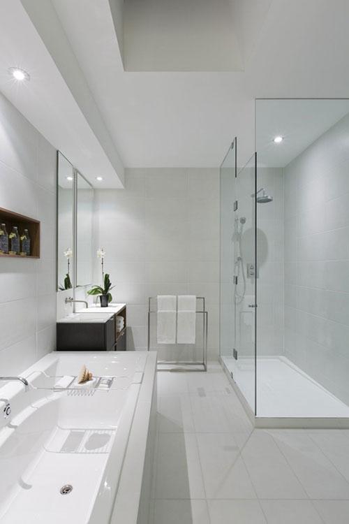 badkamers voorbeelden » luxe badkamer ontwerp met contrast, Badkamer