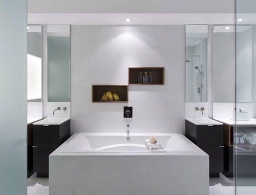Luxe badkamer ontwerp met contrast