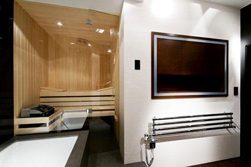 Luxe badkamer met sauna - Badkamers voorbeelden