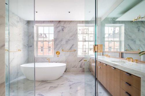 Luxe badkamer woning in Greenwich villa - Badkamers voorbeelden