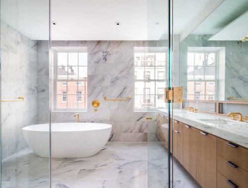 Luxe badkamer woning in Greenwich villa