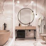 Luxe chique badkamer met zwarte accenten