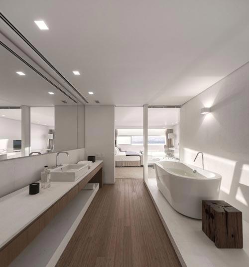 Luxe designbadkamer in brazili badkamers voorbeelden - Deco master suite met badkamer ...