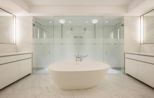 Luxe minimalistisch badkamer
