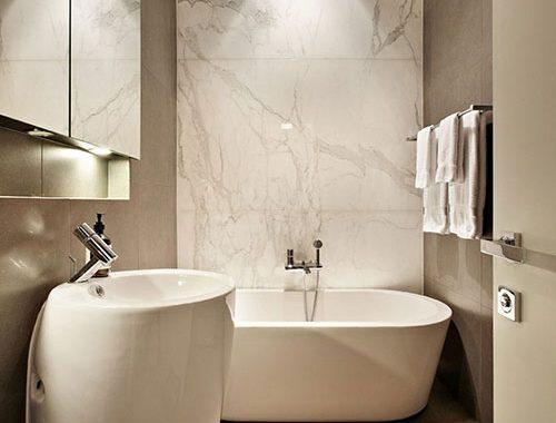 Luxe moderne badkamer van Victoriaanse woning