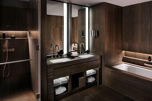Luxe slaapkamer van Armani hotel